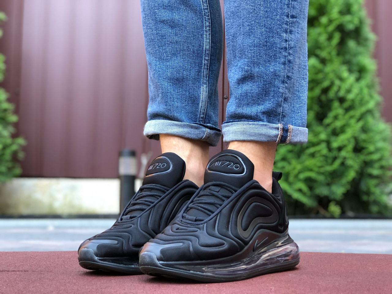 Мужские кроссовки Nike Air Max 720,черные,текстиль