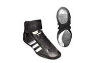 Борцовки AD OB-3979-BK (р-р 40-45, верх-кожа, нейлон, низ-нескользящая резина, черный)