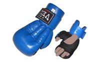 Перчатки рукопашного боя тип 1 VELO VL-8104 (верх-кожа, пенополиуретан, красный, синий)