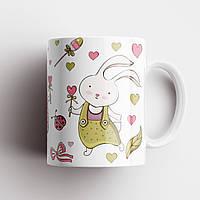 Чашка з принтом Кролики. Чашка з фото, фото 1