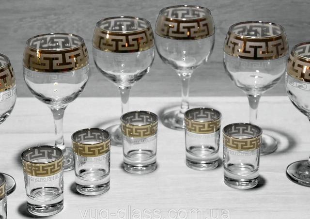 Комплекты бокалов (12,13, 19 предметные)