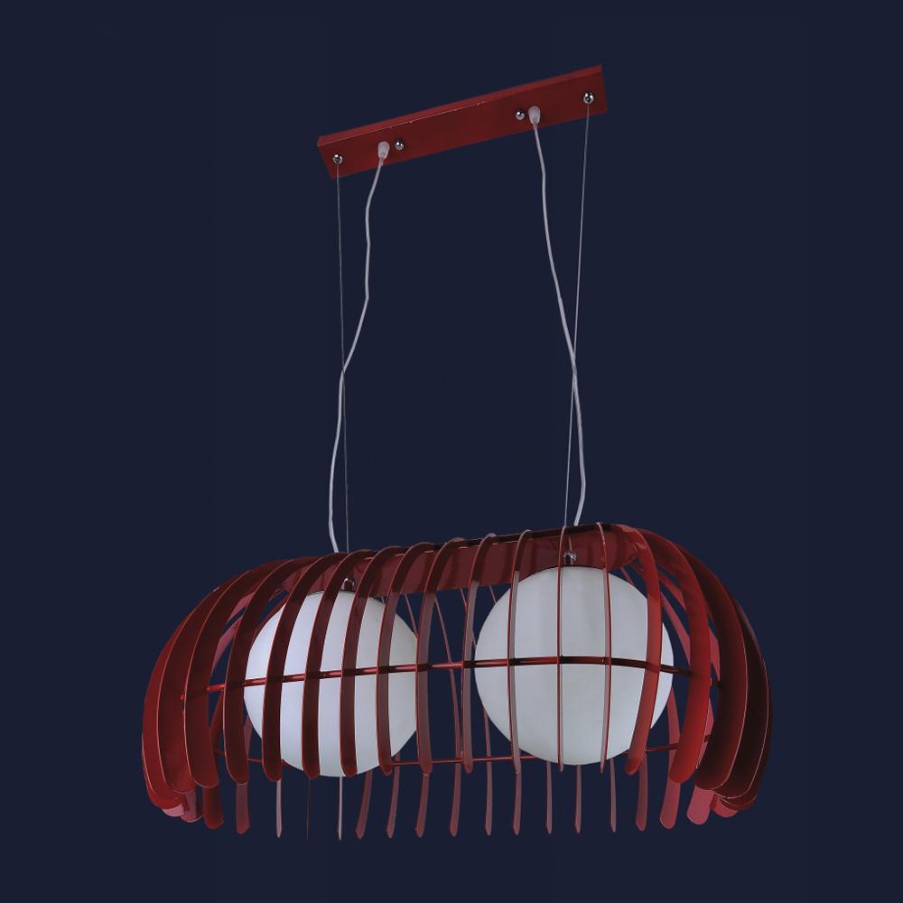 Светильник Loft для прихожей на два плафона цвет красный Levistella&7076104-2 красный