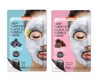 Purederm Black O2 Bubble Mask Кислородная тканевая маска