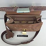 Женская сумка AGATA Gold из натуральной кожи и питона гранатовой расцветки, фото 3