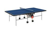 Стол теннисный RUNCORN 127 INDOR-BLU (складной, ДСП, металл, пластик, р-р 2,74*1,52*0,76м)