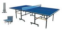 Стол теннисный V-SIX T-205 (ДСП, металл, пластик, р-р 2,74*1,52*0,76м, толщ 16мм,8*колес d-50мм)