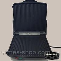Гриль контактний Rainberg RB-5406 |1500 Вт | Електрогриль Раинберг | Сендвичница | Бутербродниця, фото 3