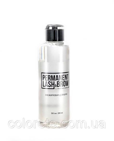 Обезжириватель для бровей Permanent lash&brow, 200мл.