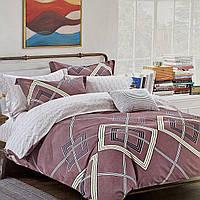 Двуспальный комплект постельного белья Сатин | Постільна білизна з сатину