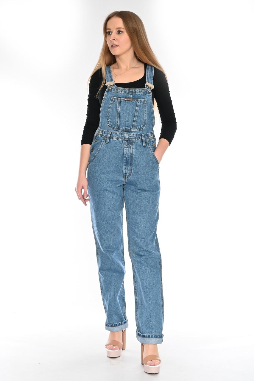 Женский джинзовый комбинезон OMAT 330 синий