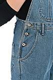 Женский джинзовый комбинезон OMAT 330 синий, фото 7