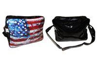 Сумка спортивная URBAN BAG AMERICA (PVC блестящее, р-р 38*26*13см)