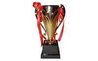 Кубок C-2853D (металл, пластик, h-15,5см, d чаши-10см, золото)
