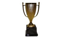 Кубок C-5005 (металл, пластик, h-19,5см, d чаши-9,5см, золото)