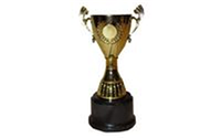 Кубок С-982C (металл, пластик, h-17см, d чаши-8,5см, золото)