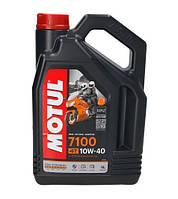 Моторное масло Motul 7100 4T 10W40 (4л) для мотоциклов. API SN/SM/SL/SJ/SH/SG, JASO MA2