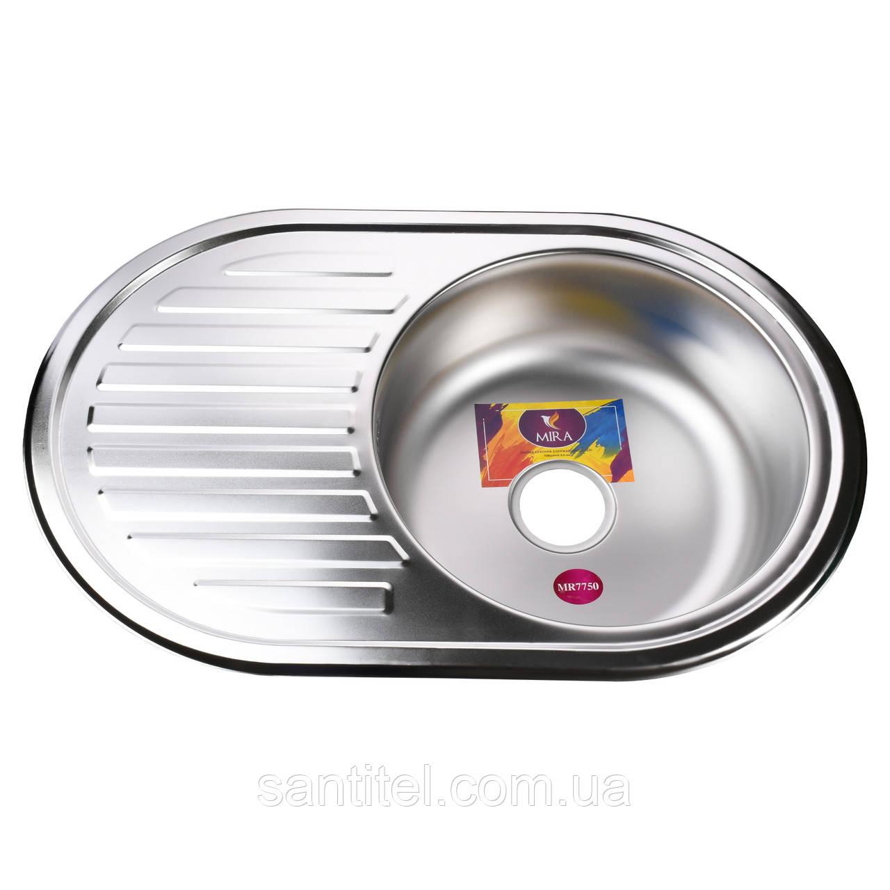 Мойка кухонная Mira MR 7750 E Satin