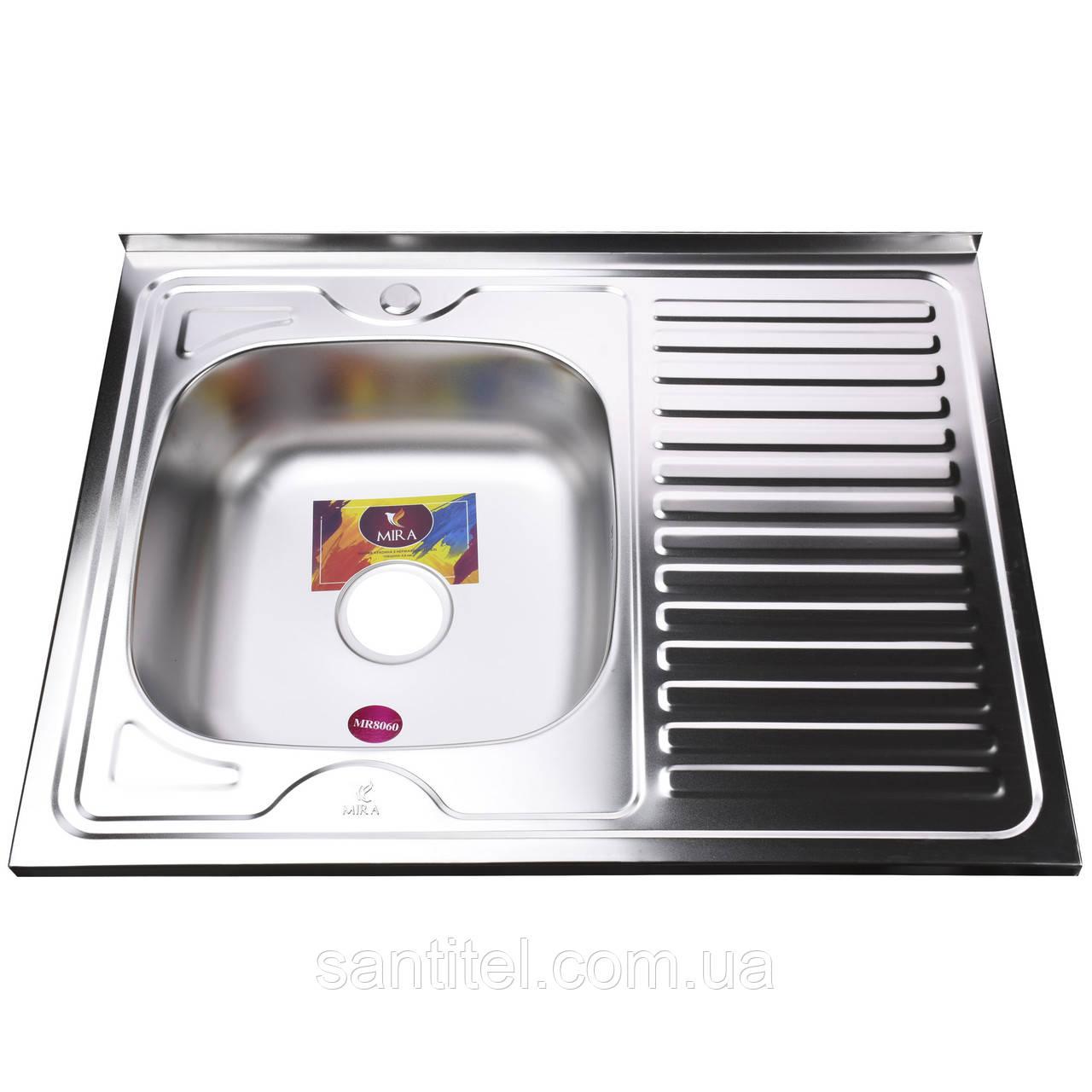Мойка кухонная Mira MR 8060 L E Satin Left