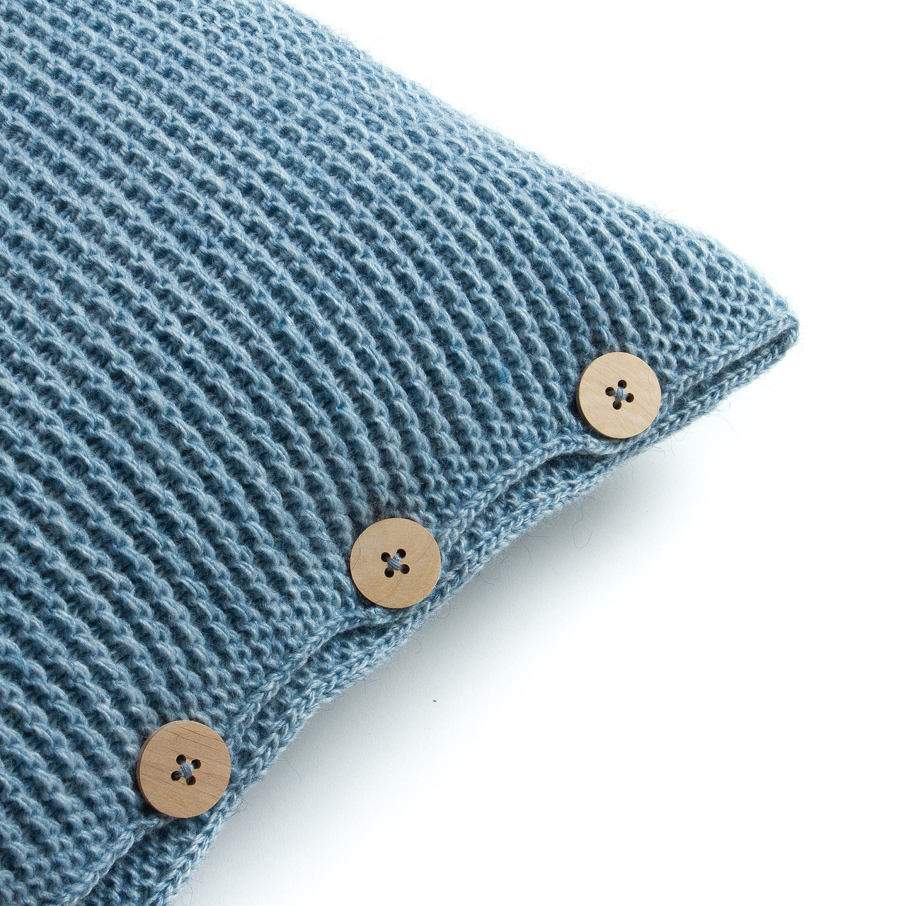 Чехол для подушки Ohaina вязаный 40х40 Powder Blue