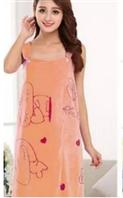 Полотенце-халат из микрофибры размер 80х125 см на кнопках  оранжевый цвет