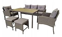Набір садових меблів з штучного ротангу CAPRI 7ос. / Обідній комплект