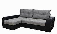 Угловой диван Garnitur.plus Барон серо-черный 250 см (DP-170)