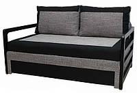 Диван Garnitur.plus Лотос черно-серый 170 см (DP-48)