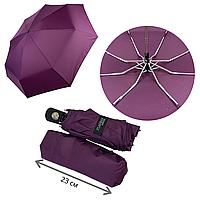 Женский складной зонт-автомат с однотонным куполом от Flagman, фиолетовый, 517-4, фото 1