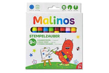 Штампи-фломастери чарівні, що змінюють колір MALINOS Stempelzauber 9 (9 + 1) шт