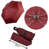 Женский складной зонт-автомат с однотонным куполом от Flagman, бордовый, 517-5, фото 1