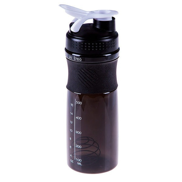 Спортивная бутылка для воды с шейкером 760мл., Черній