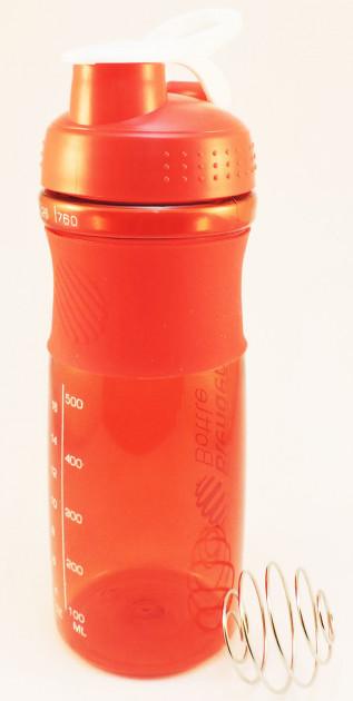 Спортивная бутылка для воды с шейкером 760мл., Красная