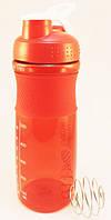 Спортивная бутылка для воды с шейкером 760мл., Красная, фото 1
