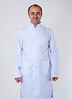 "Медицинский халат мужской ""Health Life"" коттон белый 3121"