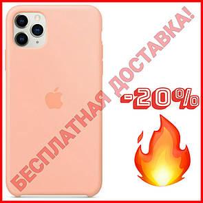 Акция! Силиконовый чехол защитный для Айфона (Grapefruit/ Бежевый) iPhone 11/11 Про Pro/11 Про Макс Pro Max