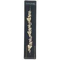Украшение-веточка для волос с цветами и бабочками