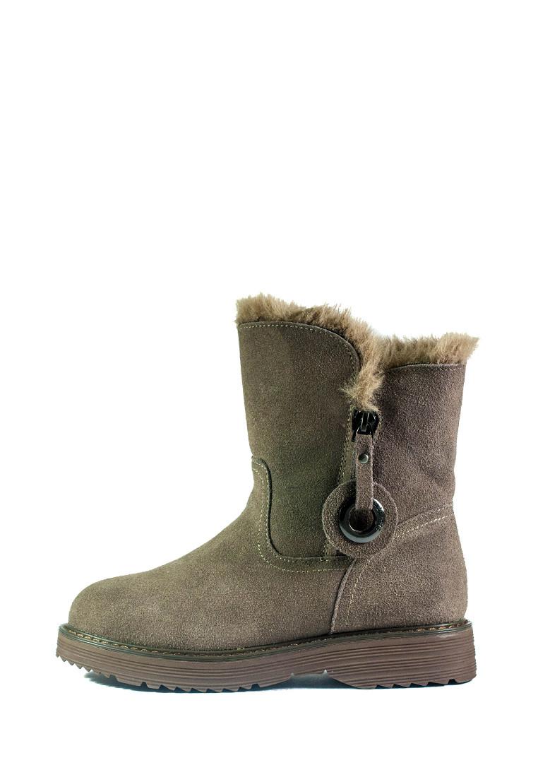 Черевики зимові жіночі Allshoes бежевий 21106 (36)