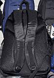 Текстильные рюкзаки школьные и городские 34*47 см (черный и синий), фото 3