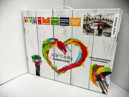 Картина по номерам Rainbow Art Ваза с ирисами 40*50 см на дереве (в коробке) арт.RA-GXT9363, фото 2
