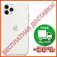 Акция! Силиконовый чехол защитный для Айфона (White/Белый) iPhone 11/11 Про Pro/11 Про Макс Pro Max