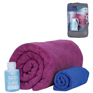 Набір рушників та шампунь Sea To Summit Tek Towel Wash Kit XL Berry (STS ATTKITXLBE)