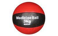 Мяч медицинский (медбол) MATSA ME-0241-3 3кг (верх-кожа, наполнитель-песок, d-18см, красно-черный)