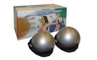 Мячи-утяжелители для фитнеса и пилатеса WITHTED BALL PS 030-0,5LB (2*0,5LB) (резина, фикс. ремни)