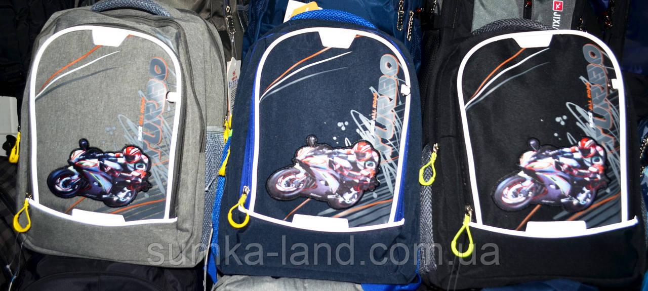 Чоловічі шкільні рюкзаки Мотоцикл 29*37 см