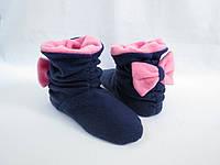 Мягкие модные тапочки-сапожки =Бантики=тепло и комфорно,синие