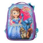 """Школьный рюкзак Princess Disney (принцессы) для девочек 1 Вересня """"Sofia"""" каркасный и ортопедический, фото 1"""