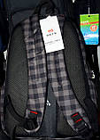 Мужские школьные рюкзаки в клетку и с узором 34*42 см, фото 2