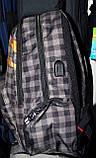 Мужские школьные рюкзаки в клетку и с узором 34*42 см, фото 3