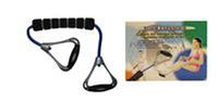 Эспандер для фитнеса трубчатый PS FI-150TR-B (латекс.жгут, d-12мм, l-55см, ручка пластик, неопрен)