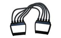 Эспандер плечевой PS P-302TPR (5-ти полосный, латекс. жгут, ручка пластик)